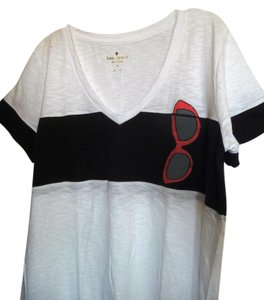 Kate Spade Cotton T Shirt White, Black, Red and Gray