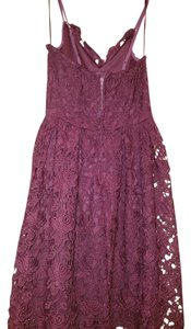 Aqua short dress Purple Lace on Tradesy