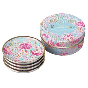 Lilly Pulitzer Lilly Pulitzer Set of 4 Ceramic Coasters in Jellies Be Jammin BNIB