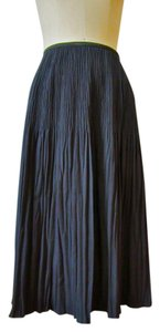 NIC+ZOE Pleats Rayon Stretch Stretchy Skirt gray