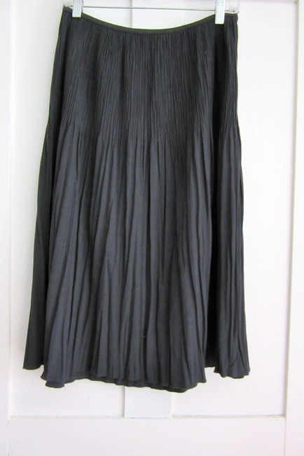 NIC+ZOE Pleats Rayon Stretch Stretchy Skirt gray Image 1