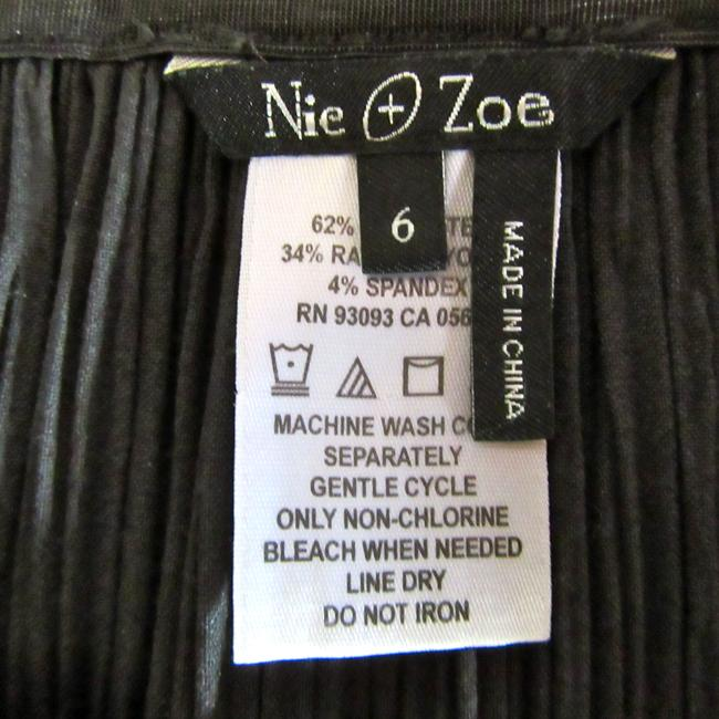NIC+ZOE Pleats Rayon Stretch Stretchy Skirt gray Image 2