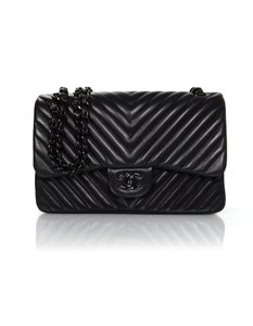 Chanel Collectors Quilted Chevron Front Flap Shoulder Bag