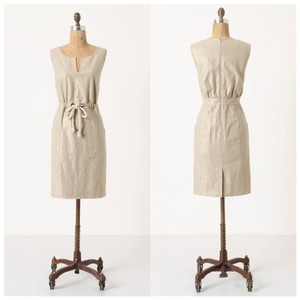 Anthropologie short dress Tan on Tradesy