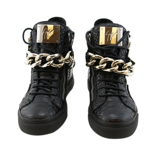 Giuseppe Zanotti Zanotti Sneakers High-top Sneakers Women Leather Boots Zanotti High-top Zanotti Chain Black Athletic