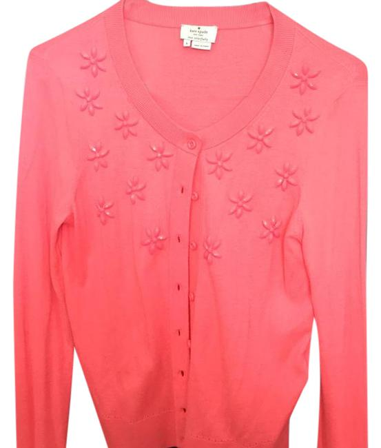 Item - Coral/Pink Sweate Cardigan Size 4 (S)