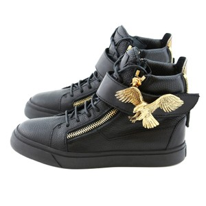 Giuseppe Zanotti Zanotti Sneakers High-top Sneakers Women Leather Boots Zanotti High-top Zanotti Gold Eagle Black Athletic