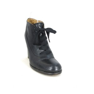 Fiorentini + Baker Leather Heeled Lace Up Black Boots