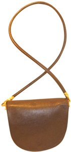 De Vecchi Refurbished Leather Gold Fish Hardware Cross Body Bag