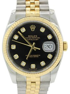 Rolex Rolex DateJust Jubilee 116233 Diamond Steel Gold Two Tone Watch