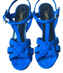 Saint Laurent Electric Blue Platforms