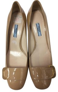 Prada Patent Leather Classic Beige Pumps