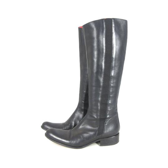 Free Lance Equestrian Leather Stretch Black Boots