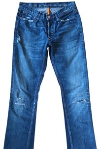 Earnest Sewn Straight Leg Jeans-Distressed