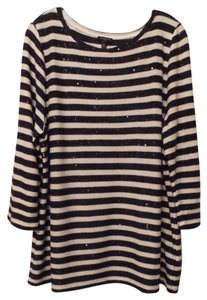 Talbots 2x Lightweight Tunic French Sailor Oversized Sweater