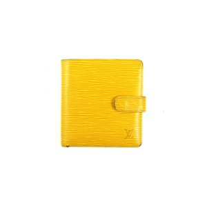 Louis Vuitton Yellow Epi Coated Leather Bifold Snap Folio Wallet France