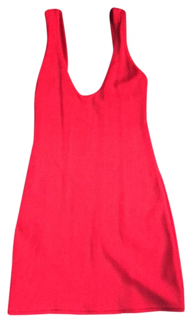 Red Short Cocktail Dress Size 4 (S) Red Short Cocktail Dress Size 4 (S) Image 1