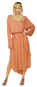 blush Maxi Dress by Faithfull the Brand Beach Cover Up Kaftan Boho