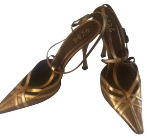 BCBG Paris Gold Pumps