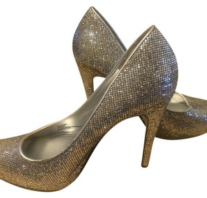 BCBGeneration Sparkle Flashy Stiletto Silver Pumps