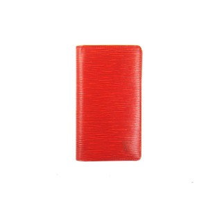 Louis Vuitton Epi Coated Leather Agenda de Poche Checkbook Cover Wallet