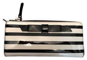 Kate Spade striped bow wallet