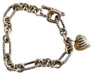 David Yurman Authentic David Yurman Heart Charm Toggle Bracelet