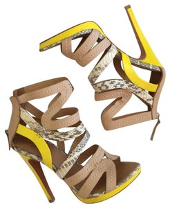 L.A.M.B. nude yellow Platforms