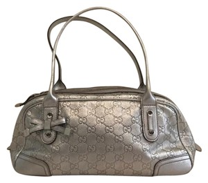 Gucci Princy Boston Satchel Satchel in Silver