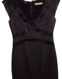 Rebecca Taylor Wool Leather Winter Structured Dress