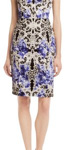 Elie Tahari short dress Print (black, white, blue) Sleeveless Sheath Tahari Nessa on Tradesy
