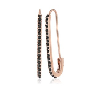 Rebecca Minkoff Rose gold pave safety pin earring