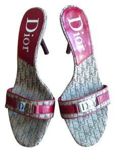 Dior Burgudy and Beige Sandals