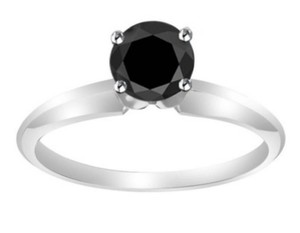 Other ** NWT ** BLACK SOLITARE MOSSIASITE ( 2.00 CT / 18K GOLD ) RING