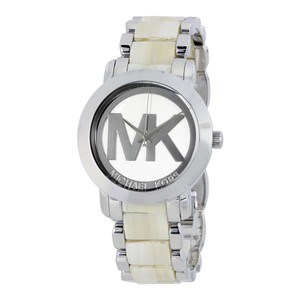 Michael Kors Silver tone Stainless Tone Horn Designer Ladies Watch