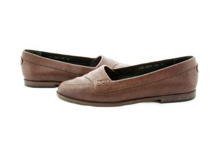 Gucci Vintage Leather Loafers Brown Flats