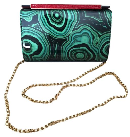 Preload https://item3.tradesy.com/images/christian-louboutin-crystal-chain-patent-leather-clutch-cross-body-bag-green-20945407-0-1.jpg?width=440&height=440