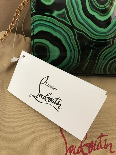 Christian Louboutin Crystal Chain Patent Leather Clutch Cross Body Bag