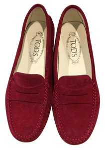 Tod's Gommini Mocassino Designer Loafers Loafers Red Flats