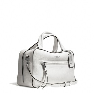 Coach Leather New 30446 Satchel in White