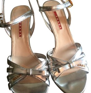 Prada Sandals silver Wedges