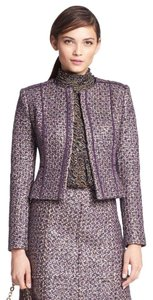 Tory Burch Purple Multi-Colored Blazer
