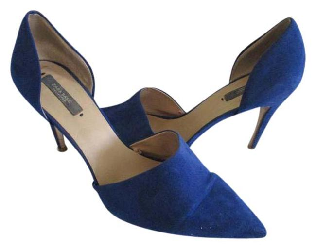 Item - Royal Blue D'orsay Suede Pumps Size US 10 Regular (M, B)