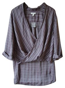 Urban Outfitters Plaid Hi Lo Draped Silence + Noise Top