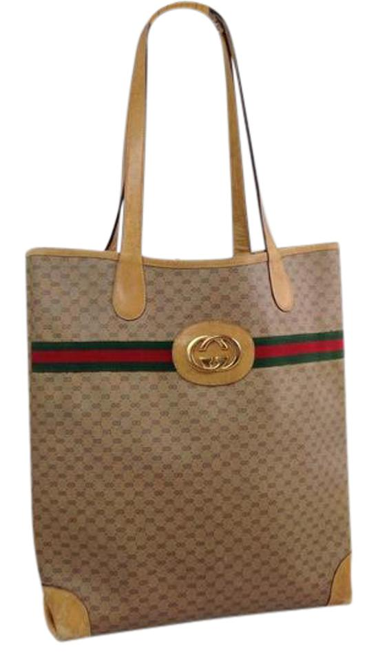 6c01fc840 Gucci Great For Everyday Xl Satchel/Tote Stripe/Gold Excellent Vintage Britt  Blondie Style ...