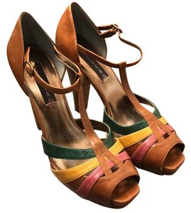 Steven by Steve Madden Tan, pink, yellow, green Formal