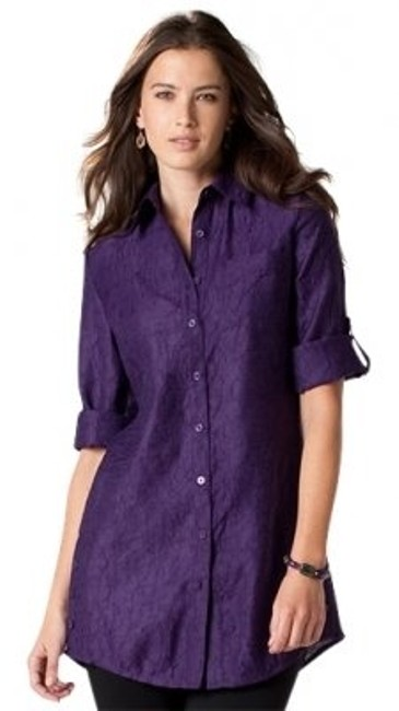 Preload https://item2.tradesy.com/images/coldwater-creek-purple-crinkle-textured-tunic-size-12-l-20946-0-0.jpg?width=400&height=650