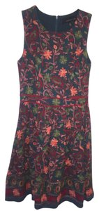 Anthropologie Adelyn Rae Fit And Flare Floral Applique Dress