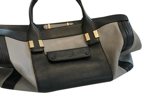 Chloé Alice Bag Leather Two-tone Satchel in Grey and Black