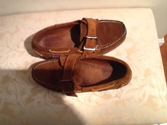 Sebago Brown Suede Flats